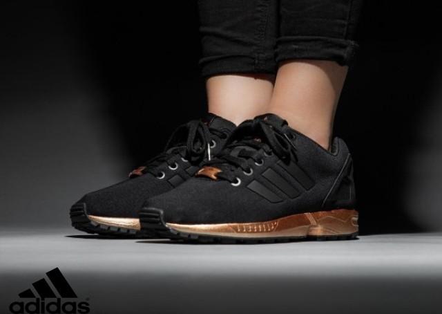 basket femme adidas zx flux noir et or